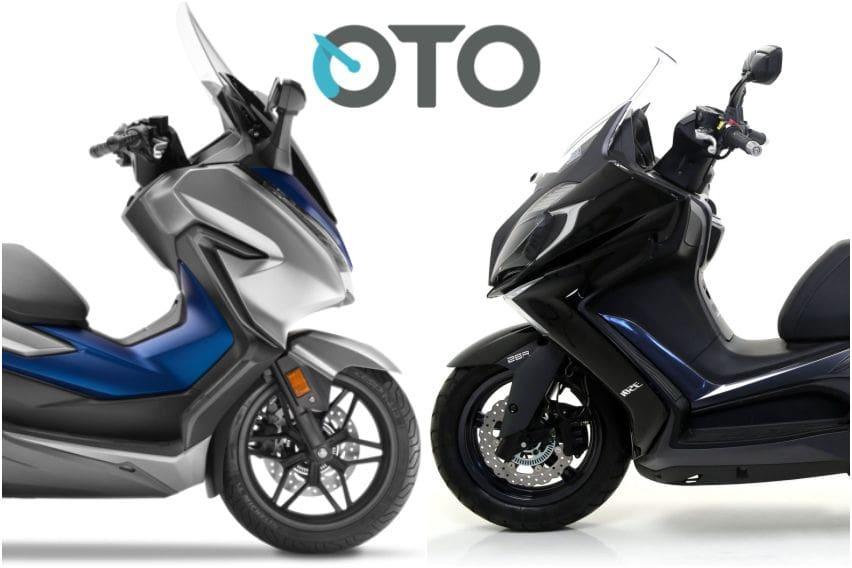 Adu Skutik 250 cc, Honda Forza vs Kymco Downtown