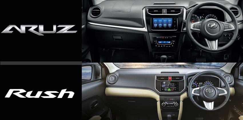 Perodua Aruz vs. Toyota Rush - interior