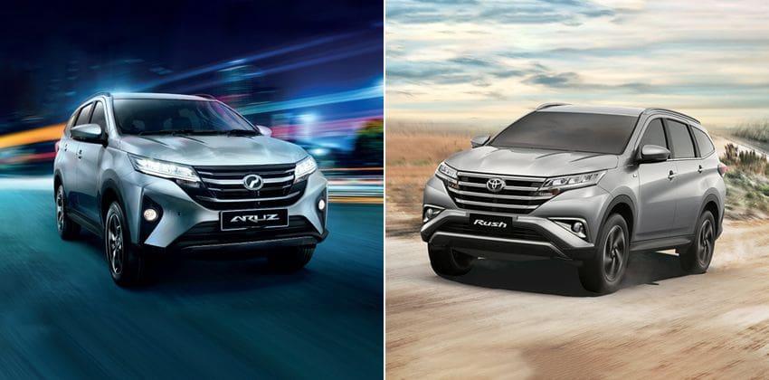 Perodua Aruz vs. Toyota Rush - front