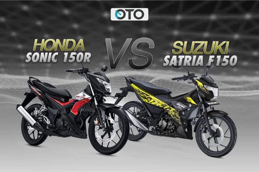 Komparasi Lengkap Honda Sonic 150R vs Suzuki Satria F150
