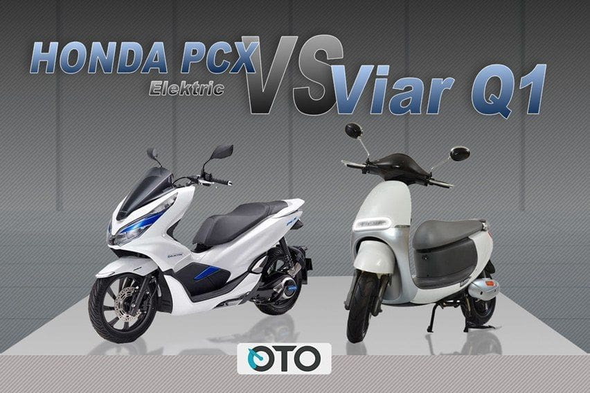 Komparasi Skutik Listrik di Indonesia, Honda PCX Electric dan Viar Q1
