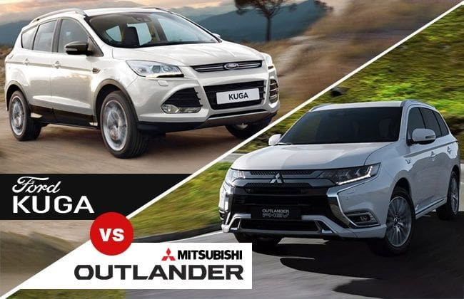 Ford Kuga vs. Mitsubishi Outlander: A battle of class and brute with loud sportiness