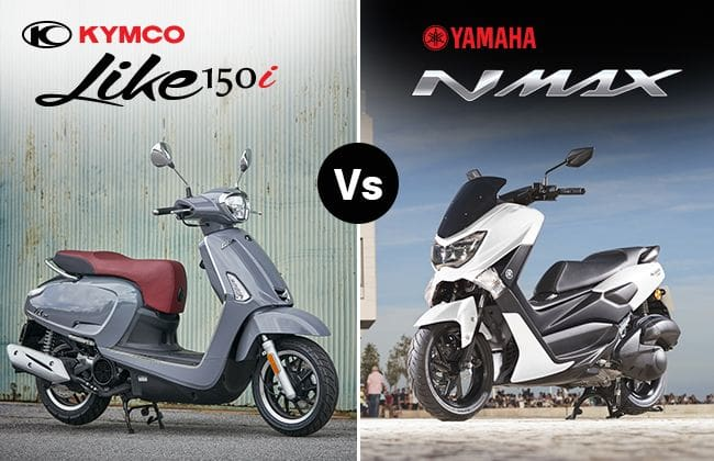 Yamaha Nmax vs. Kymco Like 150i: Performance against elegance