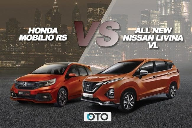 Komparasi Honda Mobilio RS Terbaru vs All New Nissan Livina VL