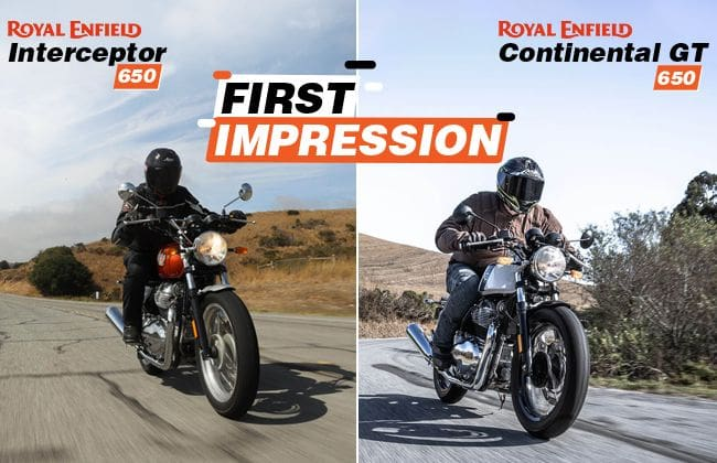 Royal Enfield Interceptor INT 650 & Continental GT 650: First impression