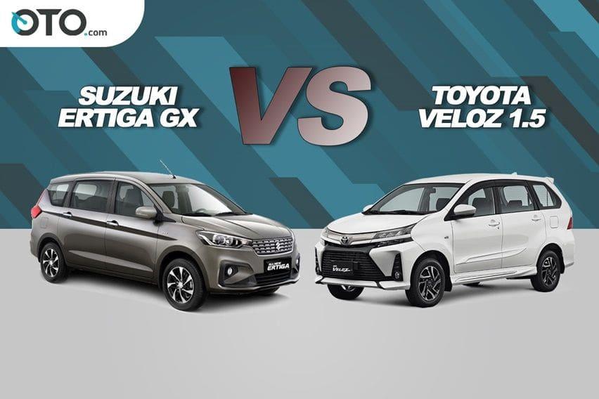 Suzuki Ertiga GX vs Toyota Veloz 1.5, Saling Adu Keunggulan