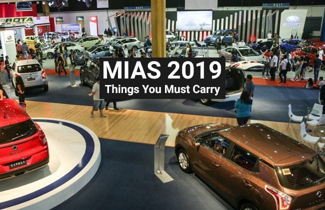 MIAS 2019 - 5 Things you should carry at the auto show