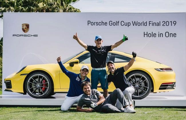 A hole-in-one lands Italian golfer in a Porsche 911 Carrera S