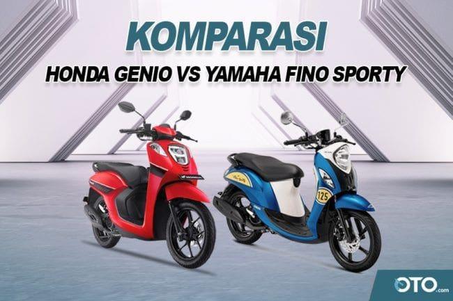 Adu Skutik Gaya Retro Murah Meriah, Honda Genio vs Yamaha Fino