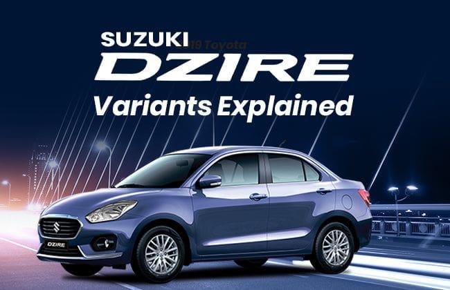 Suzuki Dzire: Variants explained