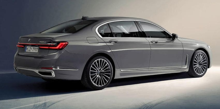 BMW 7 Series facelift side and rear