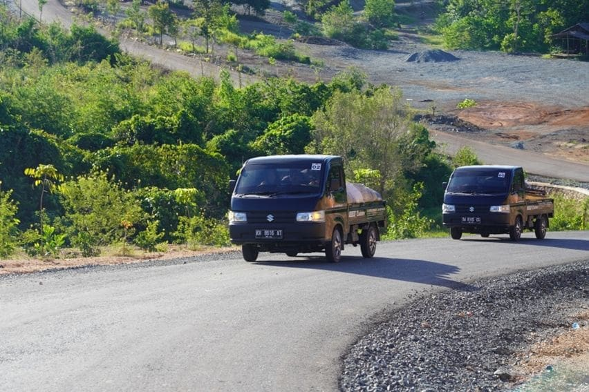 First Drive New Suzuki Carry Pick Up: Besarnya Torsi Carry di Tanah Borneo