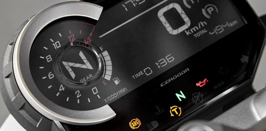 Honda CB1000R instrument cluster