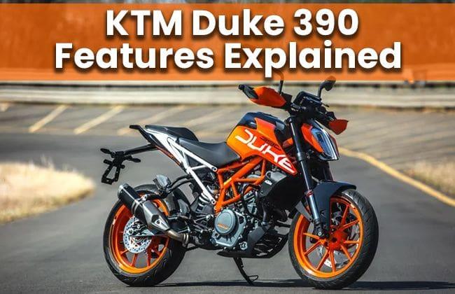 KTM Duke 390: Features explained