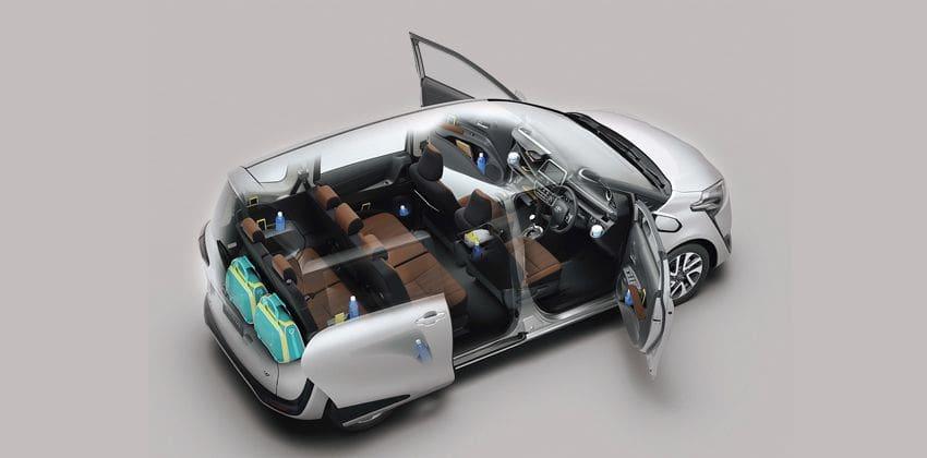 Toyota Sienta cabin
