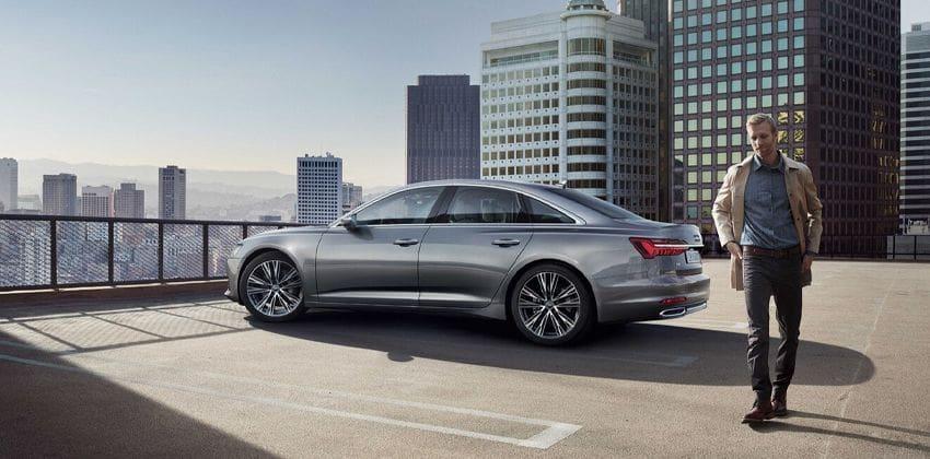 New Audi A6 side profile