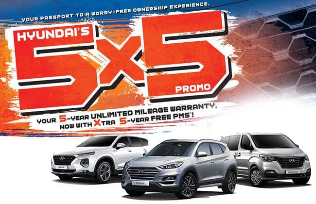 Buy a Hyundai and benefit from the - 5x5 Hyundai Special Service Promo