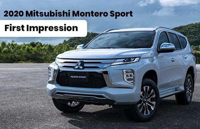 2020 Mitsubishi Montero Sport: First impression