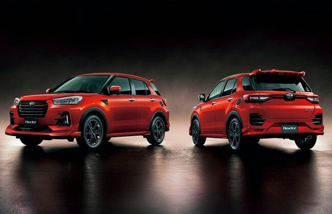 Daihatsu offers three styling packages for Rocky