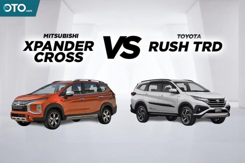 Komparasi Mitsubishi Xpander Cross Vs Toyota Rush TRD, Mana yang Layak Dibeli?
