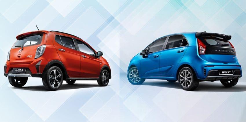 Perodua Axia vs. Proton Iriz - rear