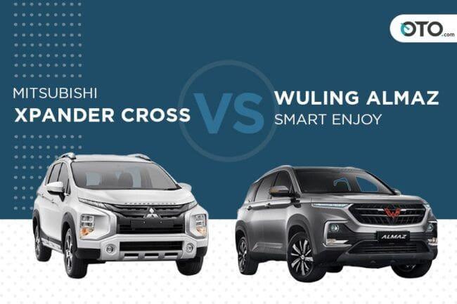 Bagus Mana, Mitsubishi Xpander Cross AT atau Wuling Almaz Smart Enjoy CVT?