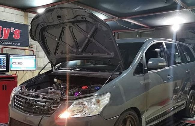 Toyota Innova modified with Supra's engine in Indonesia