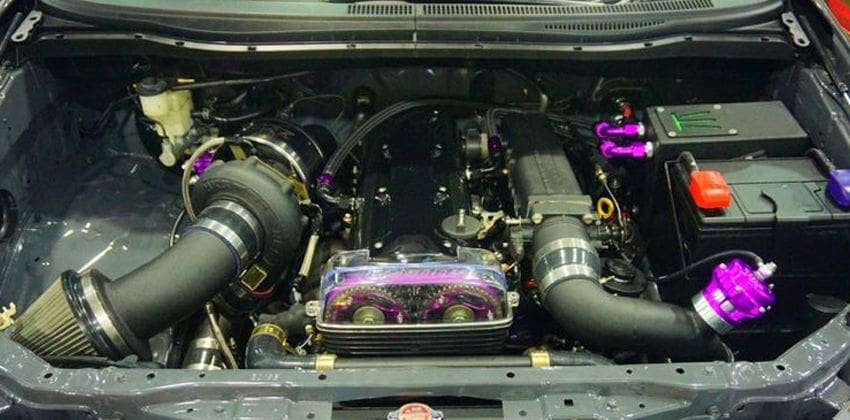 Toyota Innova with supra engine