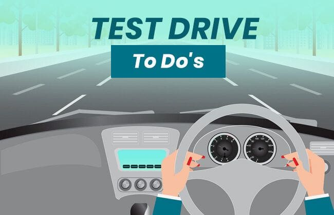 10 Things to remember while taking a test drive
