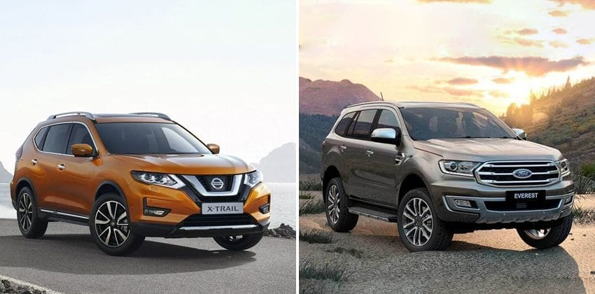 Nissan X-Trail vs Ford Everest - exterior image
