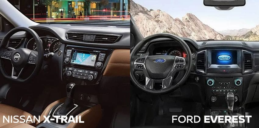 Nissan X-Trail vs Ford Everest - interior image