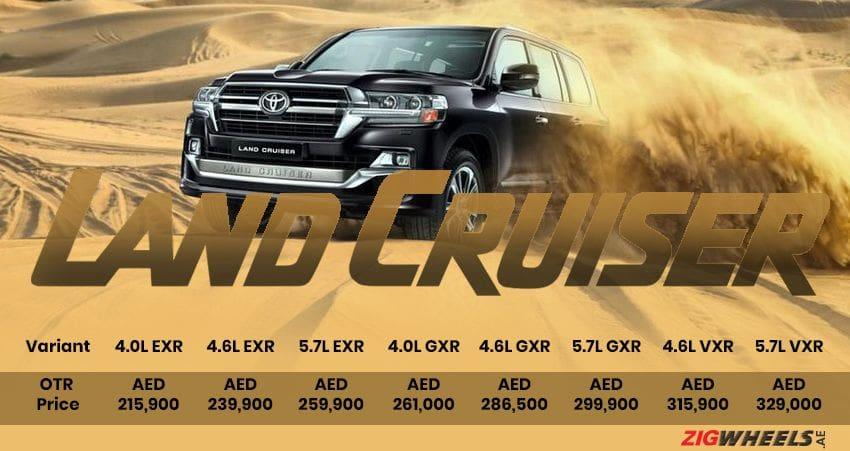 Toyota Land Cruiser price in the UAE