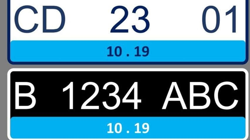 Pelat nomor khusus kendaraan listrik