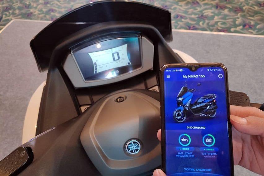 Yamaha Nmax bisa terhubung aplikasi via Bluetooth