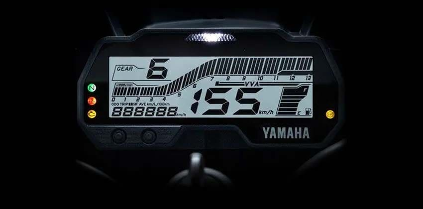 Yamaha YZF R15 digital display
