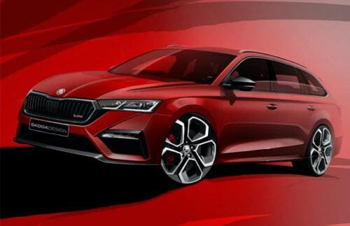 Skoda releases sketches of Octavia RS iV ahead of debut