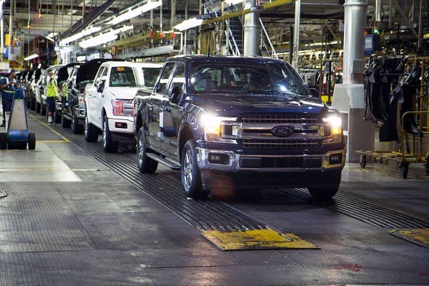 Ilustrasi pabrik Ford Amerika