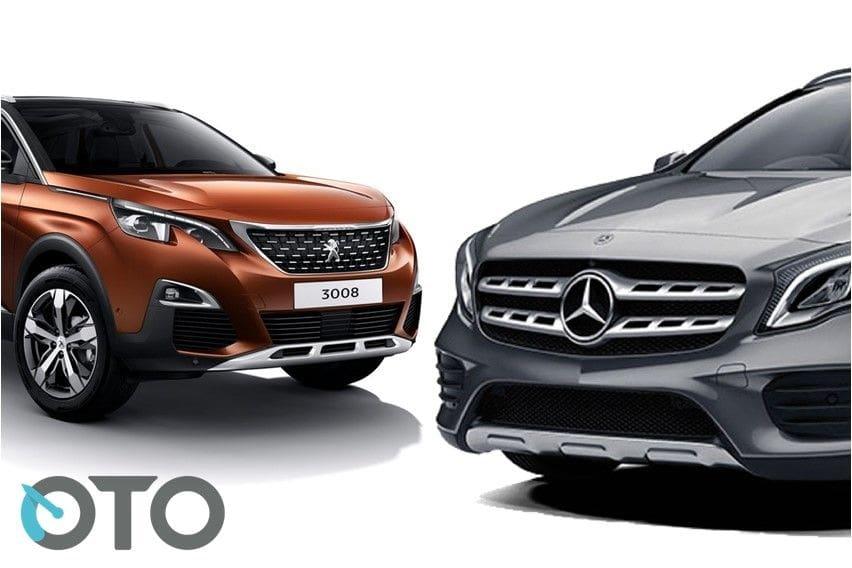 Komparasi Peugeot 3008 Allure Plus Lawan Mercedes-Benz GLA 200