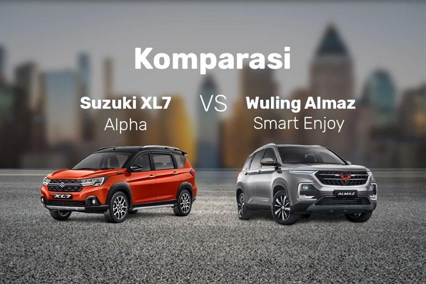 Komparasi Suzuki XL7 Alpha Versus Wuling Almaz Smart Enjoy, Pilih Mana?