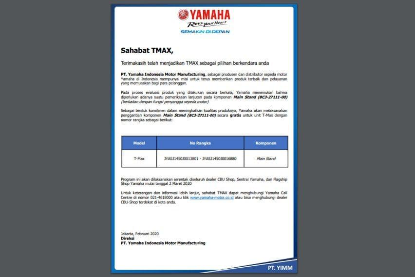 Yamaha TMax DX Recall 2020