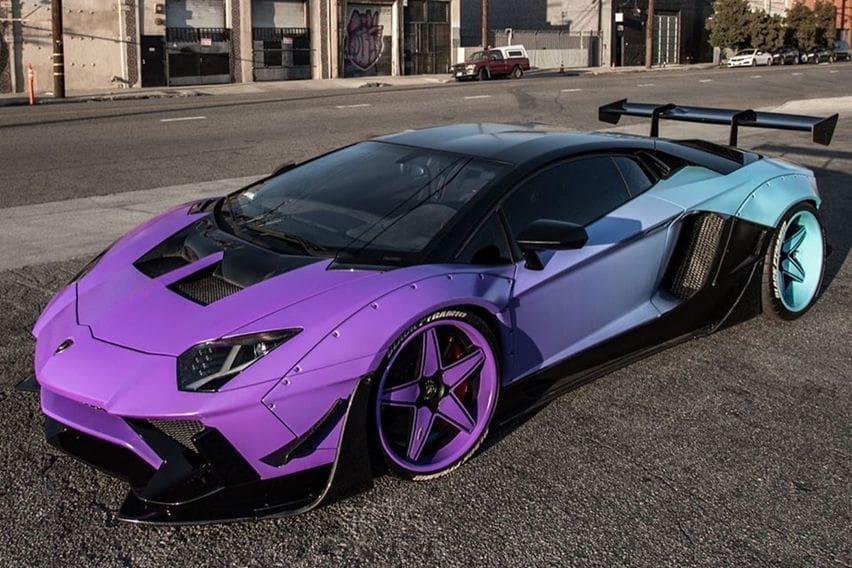 Menterengnya Lamborghini Aventador SV Kustom Milik Chris Brown