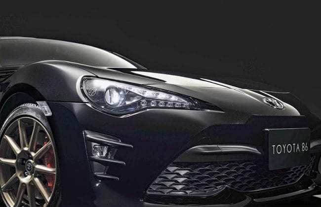 Toyota 86 GT Black Limited makes a stunning revelation