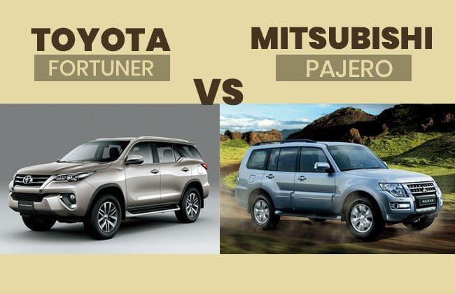 Toyota Fortuner vs Mitsubishi Pajero - The better pick