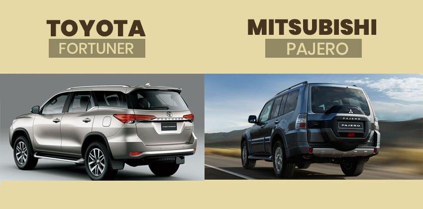 Toyota Fortuner vs Mitsubishi Pajero rear