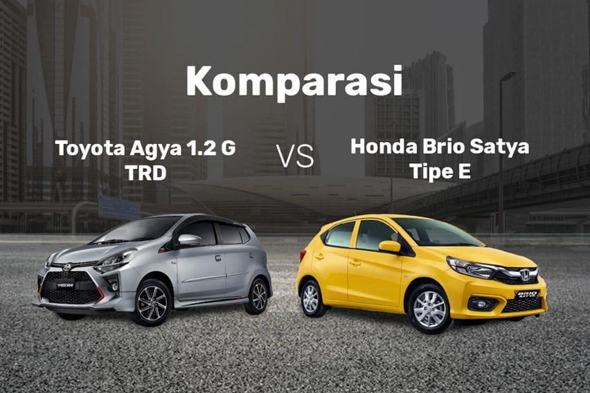 Komparasi Toyota Agya 1.2 G TRD vs Honda Brio Satya E, Perang Fitur dan Harga