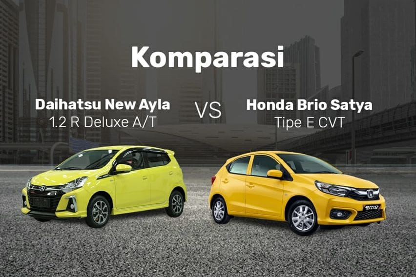 Rivalitas Abadi Daihatsu New Ayla R Deluxe Vs Honda Brio E Satya