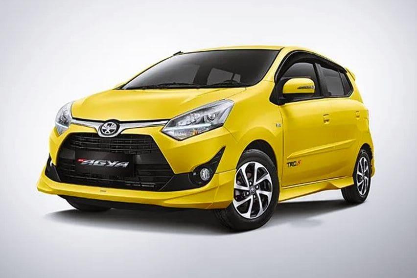 Facelift pertama Toyota Agya