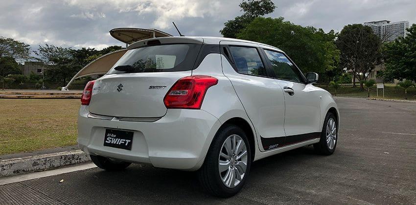 Suzuki Swift GL 1.2 MT rear quarter 850 x 420