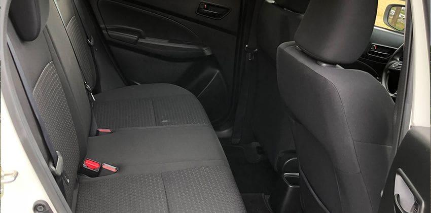 Suzuki Swift GL 1.2 MT rear seats 850 x 420