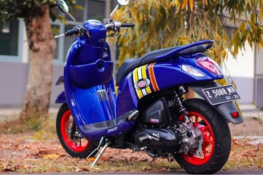 scoopy modifikasi simple